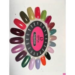 Quida Gelpolish kleurenkaart 221 t/m 240